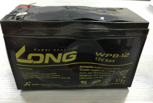 Long製バッテリー WP8-12