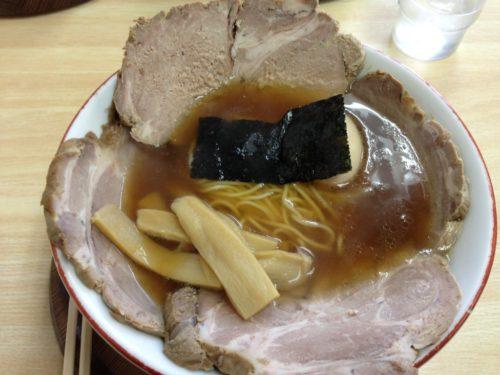 心麺の醤油チャーシュー麺+W