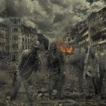 崩壊する都市とゾンビ